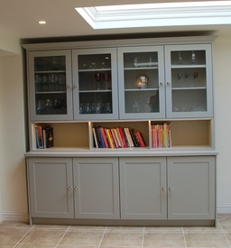Kitchen Display Cabinet with Glass Doors