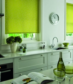 Lime Green Kitchen Blinds