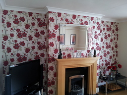 Papered Feature Wall