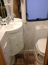 Couples Motorhome shower room.