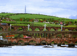 Berwick Bridges across the Tweed