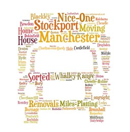 Removals van Manchester areas words