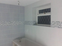 Bathrooms we fitted and tiled