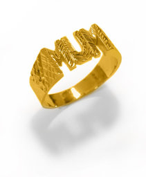 Solid 22ct Gold MUM ring