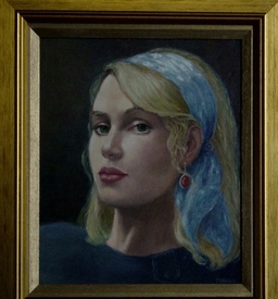 Portrait in oils.