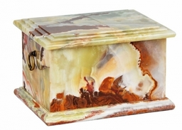 1 Mg Natural White Marble Cremation Ashes Casket For Adult