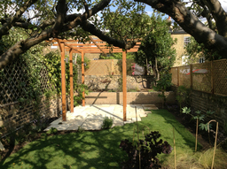 Islington back garden pergola and patio build