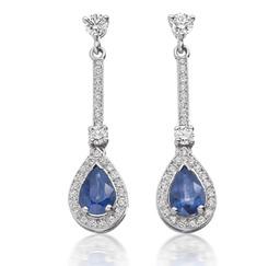 Avanti sapphire & diamond drop earrings