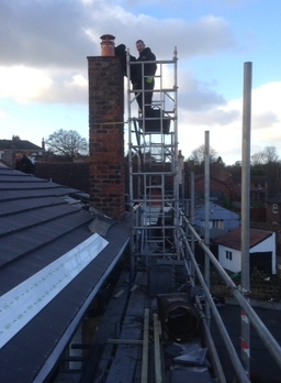 New roof : chimney repair