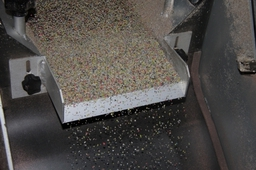 Pure Clean Plastic Granules Made Into Recycled Floor Tiles