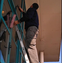 Window Cleaning Safely From A Ladder