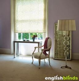 Floral Patterned Bedroom Blinds
