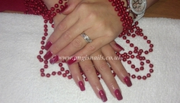 Good Gossip Gelish on Gel nails