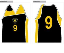 Basketball Shirt Leyland Warriors