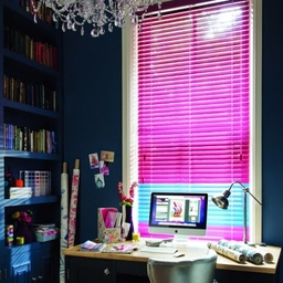 Luxury Pink Wooden Blinds