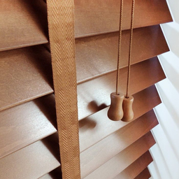 Next Day Bronzed Oak Wood Venetian Blinds With Tap