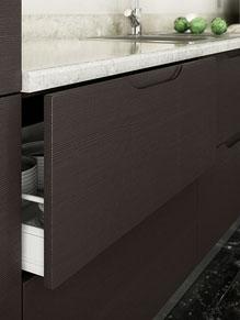 Kitchen Close Up Brentford 22mm Design In Horizontal Melinga Oak