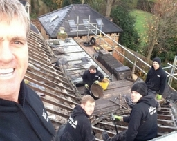Andy and the lads ( slate roof )