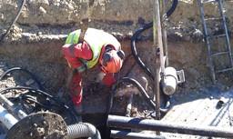 Underground petrol tank cleaning