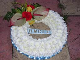 Uncle wreath tribute