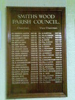 Signwritten Honours boards