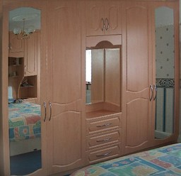 Fitted Wardrobe With Dresser And Mirrors
