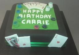 Casino style cake