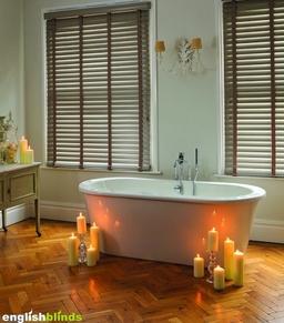 Wooden Blinds Bathroom