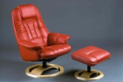 Boston Leather Swivel Recliner Chair