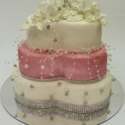 Bubbles Wedding Cake