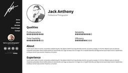 A website I built for a Jack Anthony Photography