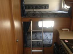 Family Motorhome rear bunks.