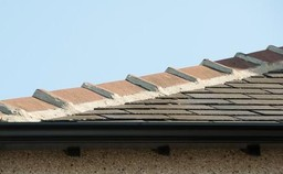 Repointing of ridge & hip tiles undertaken in Leeds & Bradford