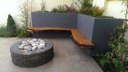 fire pit at back garden design by Aspects of Lands