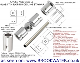 Angle Adjustable Sloping Ceiling Staybar
