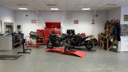 OUr Motor bike service area