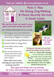Pads 'n' Pets, Pet Sitter & Dog Walker South Leeds