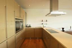 Open plan kitchen in Waterside Property