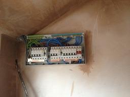 Consumer unit installation (fascia removed)