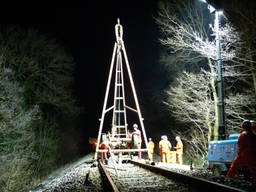Cable Percussion rig in use on railway contract