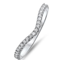 Round Diamonds Wishbone Shaped Half Eternity Ring at Fine Diamonds R Us