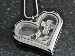 Grandma memorial heart locket