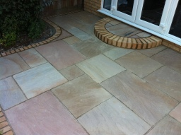 Indian Sandstone Patio. Broxbourne