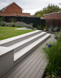 Contemporary granite steps-levels slope