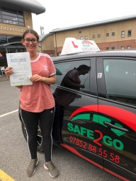 Safe2go driving School passed driving test 2018