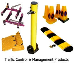 Traffic Management Products, parking posts, flow plates, speed bumps, etc