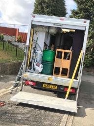 Nice and tidy packed van