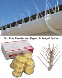 Bird Free Fire Gel and Bird Deterrent Spikes