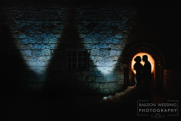 Night photograph Yorkshire wedding venue