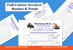 Printed Invoice Books